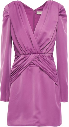 Nicholas Ruched Satin-crepe Mini Dress