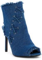 Italina Denim Peep Toe Boot