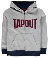 Tapout Kids Logo Zip Hoodie Hoody Hooded Top Junior Boys Warm Long Sleeve
