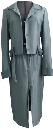 John Galliano Turquoise Wool Jackets