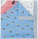 Coach penguin print scarf