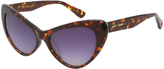 Betsey Johnson Tortoise Extreme Cat-Eye Sunglasses