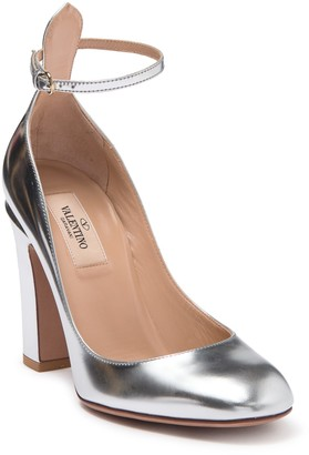 Valentino Metallic Ankle Strap Pump