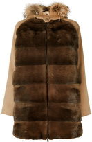 P.A.R.O.S.H. fur trim hooded coat - women - Mink Fur/Polyester/Wool/Marmot Fur - S