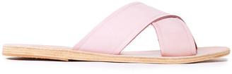 Ancient Greek Sandals Suede Slides
