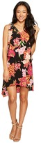 Tahari by Arthur S. Levine Petite Tiered Floral Chiffon Shift Dress Women's Dress