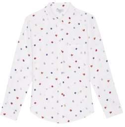 Rails Gemstone Silk Kate Shirt - m - White