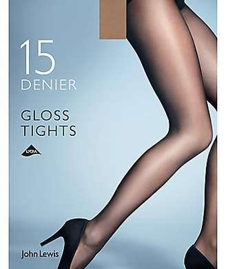 John Lewis & Partners 15 Denier Gloss Tights, Pack of 1