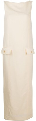 Gianfranco Ferré Pre-Owned Slash Neck Maxi Dress