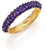 Kenneth Jay Lane Cabochon Cluster Bangle Bracelet