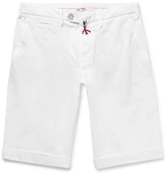 Isaia Slim-Fit Stretch-Cotton Twill Bermuda Shorts