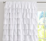 "Pottery Barn Kids Ruffle Blackout Panel, 44x63"" White"