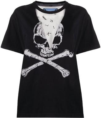 Viktor & Rolf Sheer Mesh T-Shirt With Print