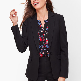 Talbots Italian Luxe Knit One-Button Blazer
