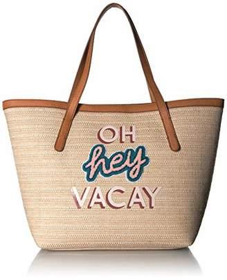 Fossil Women's Jeanne Fabric Beach Tote Handbag