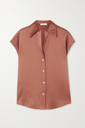 Vince Silk-satin Blouse - Bronze