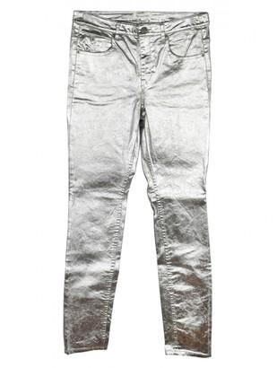 Etoile Isabel Marant Silver Cotton Jeans