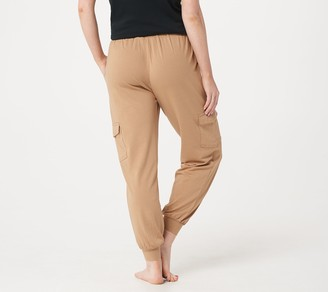 AnyBody Loungewear Petite Cozy Knit Cargo Jogger Pants