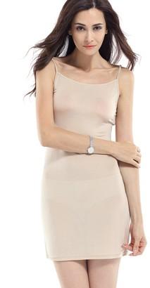 Hoffen Womens 100% Silk Long Slip Dress Spaghetti Strap Full Slip (S