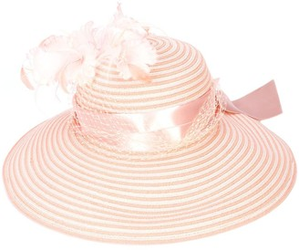 Gigi Burris Millinery Feather Embellished Hat
