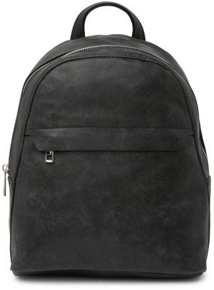 Madden-Girl Shimmer Faux Suede Backpack
