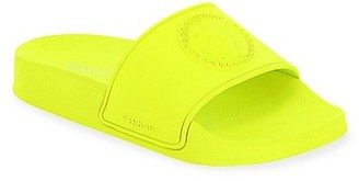 Versace Little Kid's and Kid's Missing English Localizza Embossed Slide Sandals