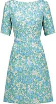 Lela Rose Floral-print jacquard dress