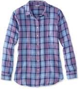 L.L. Bean L.L.Bean Premium Washable Linen Shirt, Tunic Plaid