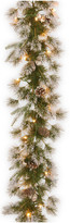 clear National Tree Company 9' Liberty Pine Garland With Lights