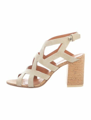 Givenchy Suede Cutout Accent Slingback Sandals