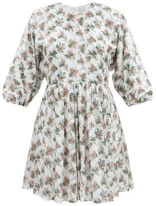 Emilia Wickstead Molly Floral-print Cotton-poplin Dress - White Multi