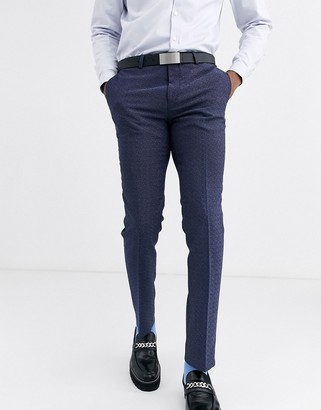 Twisted Tailor super skinny suit pants with blue fleck
