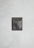 Rick Owens black credit card holder