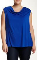 Susina Drape Neck Knit Top (Plus Size)