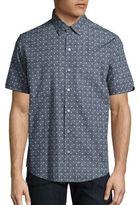 Zachary Prell Short Sleeve Floral-Print Shirt