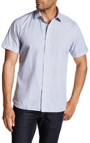 Toscano Short Sleeve Square Print Regular Fit Shirt