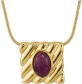 """House Of Harlow Ribbed Valda Pendant Necklace, 16"""" + 3"""" Extender"""