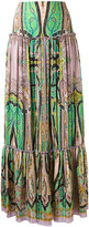 Etro abstract print peasant skirt - women - Silk - 42