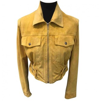 Christian Dior Yellow Suede Jackets