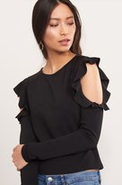 Dynamite Ruffled Cold Shoulder Top