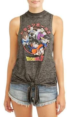 Dragon Ball Z Dragonball Z Juniors' Tie Front Graphic Tank