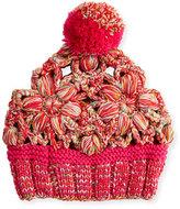 Missoni Floral Wool Beanie, Pink