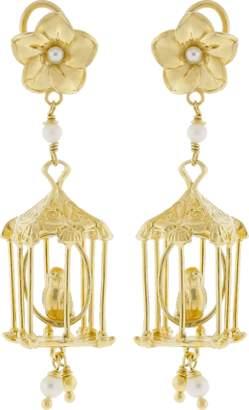 Of Rare Origin Bird Cage Earrings