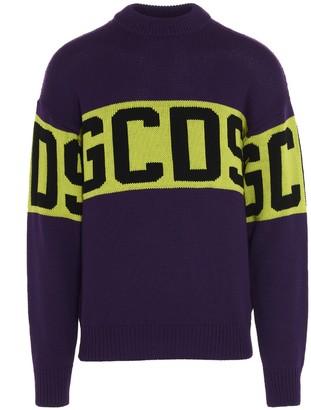 GCDS Logo Band Knit Sweater