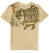 Buffalo David Bitton Big Boys 8-20 V-Neck Graphic Tee