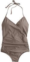 J.Crew Halter wrap one-piece swimsuit