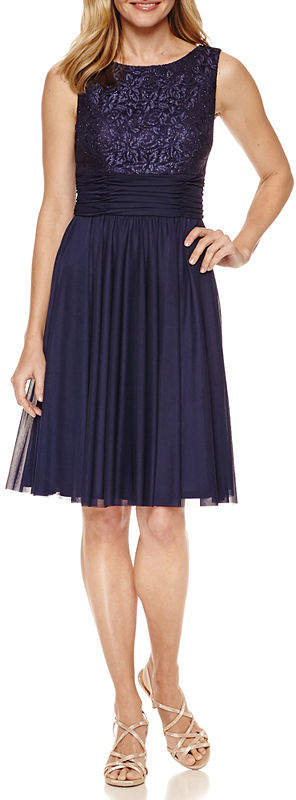 Jessica Howard Sleeveless Fit & Flare Dress