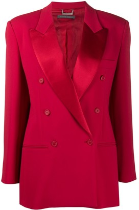 Alberta Ferretti Double-Breasted Blazer