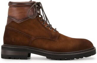 Magnanni Lace-Up Leather Boots