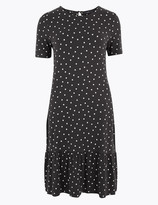 Marks and Spencer Polka Dot Jersey Swing Mini Dress